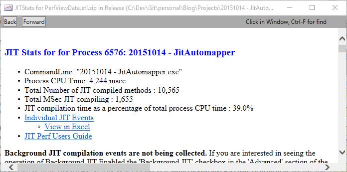 JIT Statistics